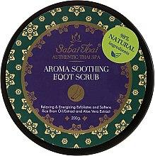 Profumi e cosmetici Scrub per piedi, con olio di crusca di riso e aloe vera - Sabai Thai Rice Milk Aroma Soothing Foot Scrub
