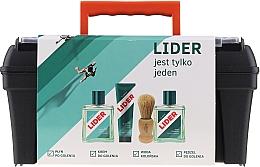 Profumi e cosmetici Set - Lider Classic (ash/lot/100ml + shav/cr/65g + edc/100ml + shav/brush + case)