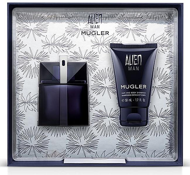 Mugler Alien Man Gift Set - Set regalo (edt/50ml+b/shm/50ml)