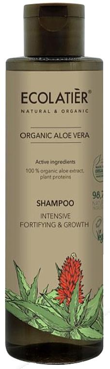 """Shampoo per capelli """"Ripristino e crescita intensiva"""" - Ecolatier Organic Aloe Vera Shampoo"""