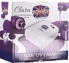Profumi e cosmetici Lampada per unghie, rossa - Ronney Professional Nail UV Lamp Clara 36W (GY-UV-818)