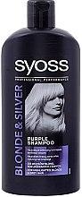 Profumi e cosmetici Shampoo antigiallo - Syoss Blond & Silver Shampoo