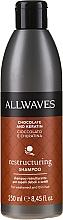"""Profumi e cosmetici Shampoo per capelli """"Cioccolato e cheratina"""" - Allwaves Chocolate And Ceratine Restructuring Shampoo"""