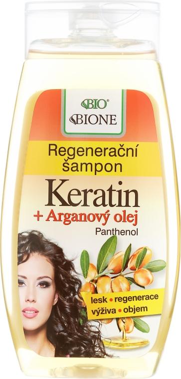 Shampoo rigenerante per capelli - Bione Cosmetics Keratin + Argan Oil Regenerative Shampoo With Panthenol — foto N1