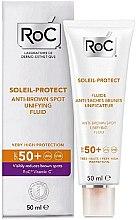 Profumi e cosmetici Fluido schiarente anti-macchie dell'età - RoC Soleil Protect Anti-Brown Spot Unifying Fluid SPF50