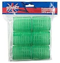 Profumi e cosmetici Bigodini in velcro 48/63, verdi - Ronney Professional Velcro Roller