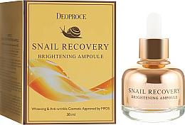 Profumi e cosmetici Siero viso illuminante - Deoproce Snail Recovery Brightening Ampoule