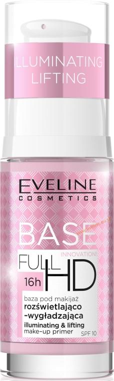 Base trucco - Eveline Cosmetics Full HD Make Up Base Illuminating and Lifting Primer SPF10