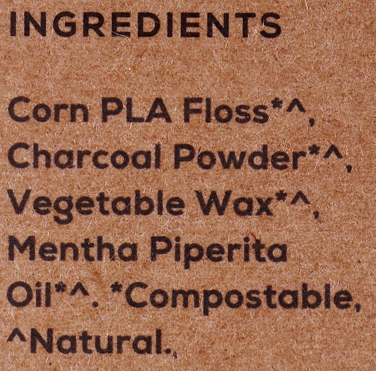 Filo interdentale, 2x50 m - Georganics Natural Charcoal Dental Floss (unità sostituibile) — foto N3