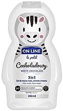 """Profumi e cosmetici Bagnodoccia per bambini """"White Chocolate"""" - On Line Le Petit White Chocolate 3 In 1 Hair Body Face Wash"""