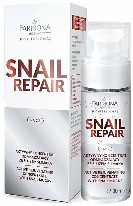 Concentrato attivo antietà alla bava di lumaca - Farmona Professional Snail Repair Active Rejuvenating Concentrate With Snail Mucus