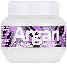 Profumi e cosmetici Maschera con olio di argan per capelli tinti - Kallos Cosmetics Argan Color Hair Mask