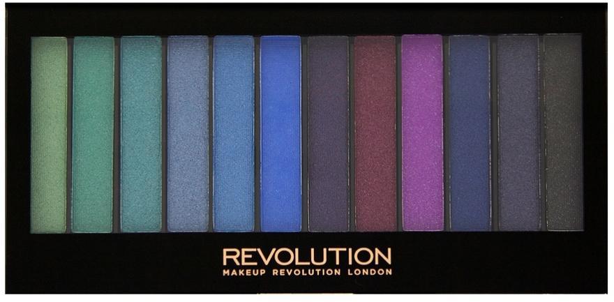 Palette di ombretti, 12 tonalità - Makeup Revolution Redemption Palette Mermaids VS Unicorns