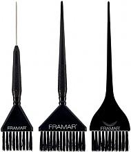 Profumi e cosmetici Set spazzole per colorare i capelli, nero - Framar 3 Piece Color Brush Set