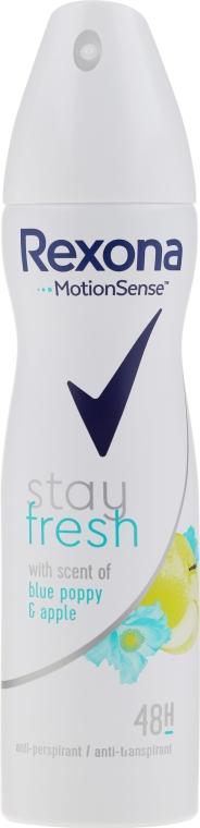 Deodorante spray - Rexona Blue Poppy & Apple Stay Fresh