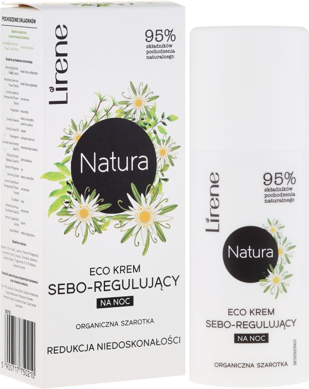 """Crema da notte """"Edelweiss"""" - Lirene Natura Eco Cream"""