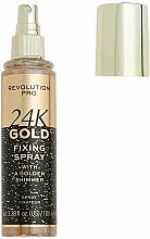 Profumi e cosmetici Fissatore trucco - Revolution Pro 24K Gold Fixing Spray