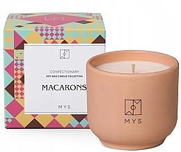 "Profumi e cosmetici Candela di Soia ""Biscotti alle mandorle"" - Mys Macarons Candle"