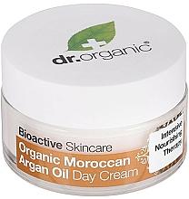 Profumi e cosmetici Crema corpo da giorno all'olio di argan marocchino - Dr. Organic Bioactive Skincare Organic Moroccan Argan Oil Day Cream