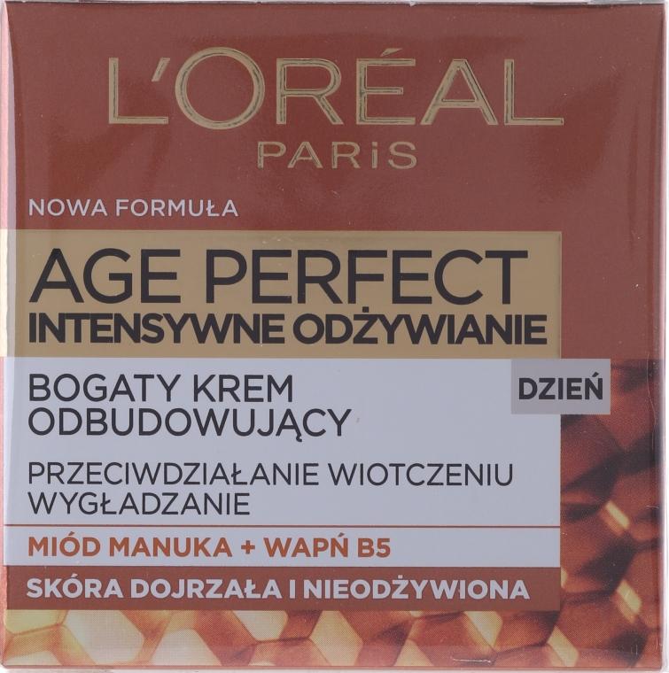 Crema viso, da giorno - L'Oreal Paris Age Perfect Intensive Nutrition 60+ Regenerating Day Cream