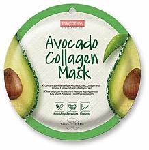 Profumi e cosmetici Maschera in tessuto - Purederm Avocado Collagen Mask