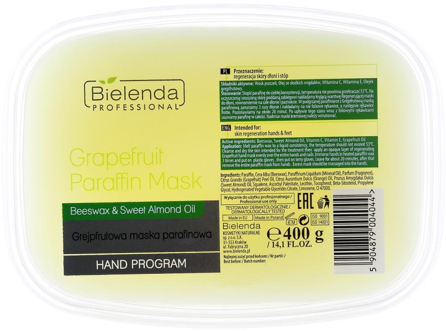 Maschera di paraffina con estratto di pompelmo - Bielenda Professional Grapefruit Paraffin Mask Beeswax & Almond Oil