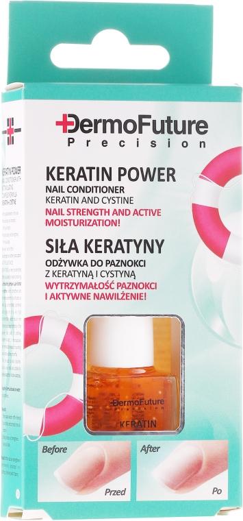 """Condizionante per le unghie """"Il potere della cheratina"""" - Dermofuture Keratin Power Nail Conditioner Keratin&Cystine"""