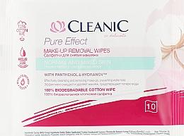 Profumi e cosmetici Salviettine struccanti, pelle normale, 10 pz. - Cleanic Pure Effect Moisturizing