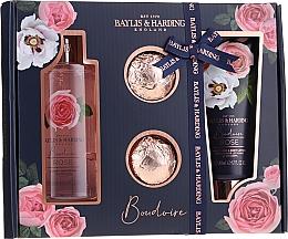 Profumi e cosmetici Set - Baylis & Harding Boudoire Rose (sh/gel/300ml + b/lot/200ml + bath/bomb/2x75g)