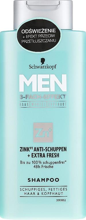 Shampoo antiforfora - Schwarzkopf Men Deep Effect 3 Zinc Anti-Dandruff+Oil Control Shampoo — foto N1