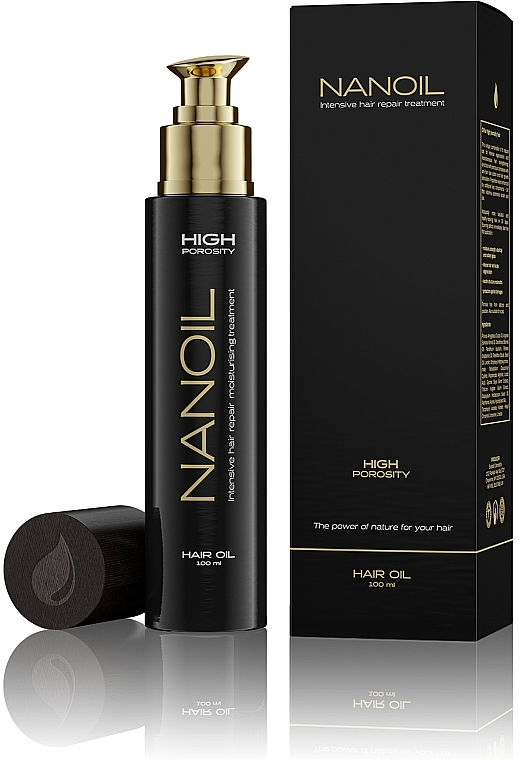 Olio per capelli ad alta porosità - Nanoil Hair Oil High Porosity — foto N4