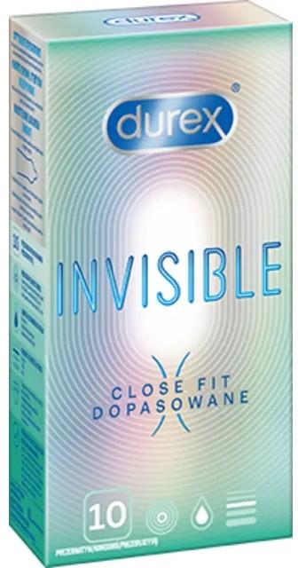 Preservativi aderenti, 10 pz - Durex Invisible Close Fit — foto N1