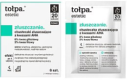 Profumi e cosmetici Salviette esfolianti con acidi AHA - Tolpa Estetic Exfoliating Wipe