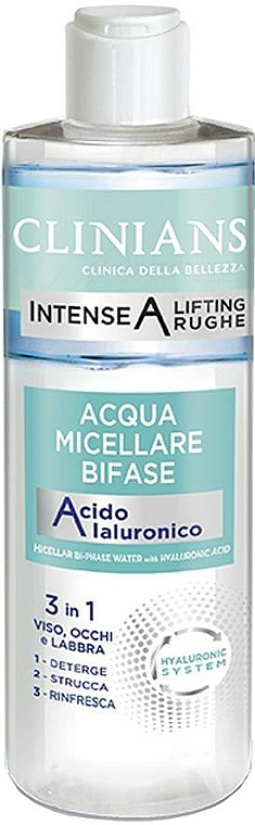 Acqua micellare bifasica - Clinians Intense A Micellar Bi-Phase Water 3in1 With Hyaluronic Acid