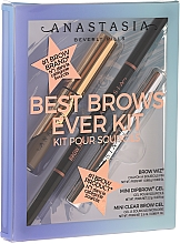 Profumi e cosmetici Set - Anastasia Beverly Hills Best Brows Ever Medium Brown (pencil/0.08g + gel/2.5ml + gel/2.2g)