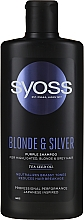 Shampoo per capelli chiari, decolorati e grigi - Syoss Blond & Silver Purple Shampoo For Highlighted, Blonde & Grey Hair — foto N1