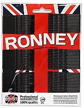 Profumi e cosmetici Fermacapelli invisibili, ondulati, neri 60 mm, 100 pezzi. - Ronney Black Hair Bobby Pins