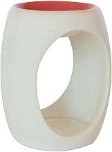 Profumi e cosmetici Lampada aromatica in ceramica, bianca con arancione - Airpure