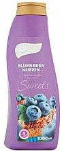 Profumi e cosmetici Bagnoschiuma - Luksja Sweets Blueberry Muffin Bath Foam