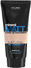 Profumi e cosmetici Fondotinta opacizzante con minerali e ingredienti idratanti naturali - Ingrid Cosmetics Mineral Matt Make Up Foundation
