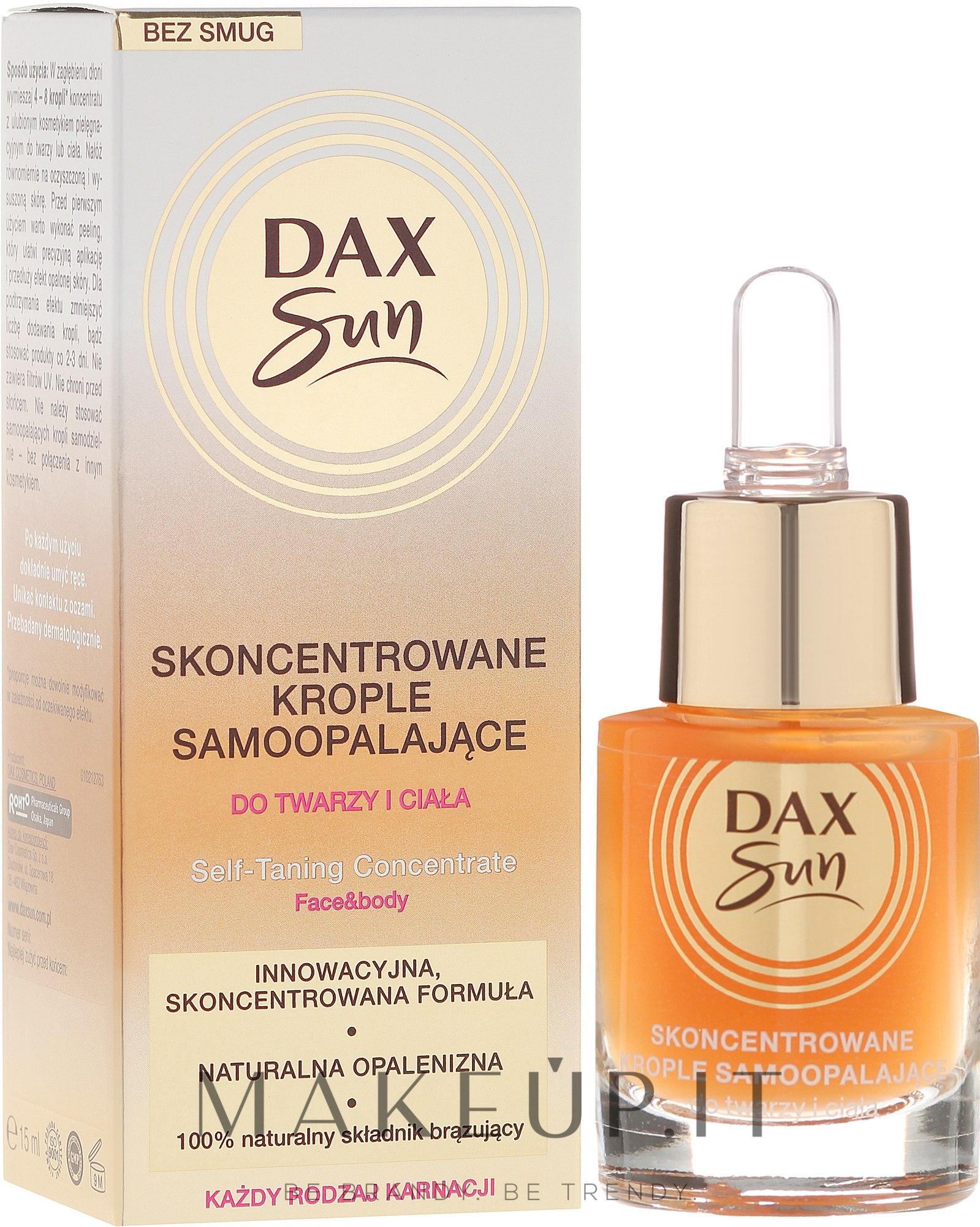 Concentrato autoabbronzante - Dax Sun Self-tanning Concentrated Drops — foto 15 ml