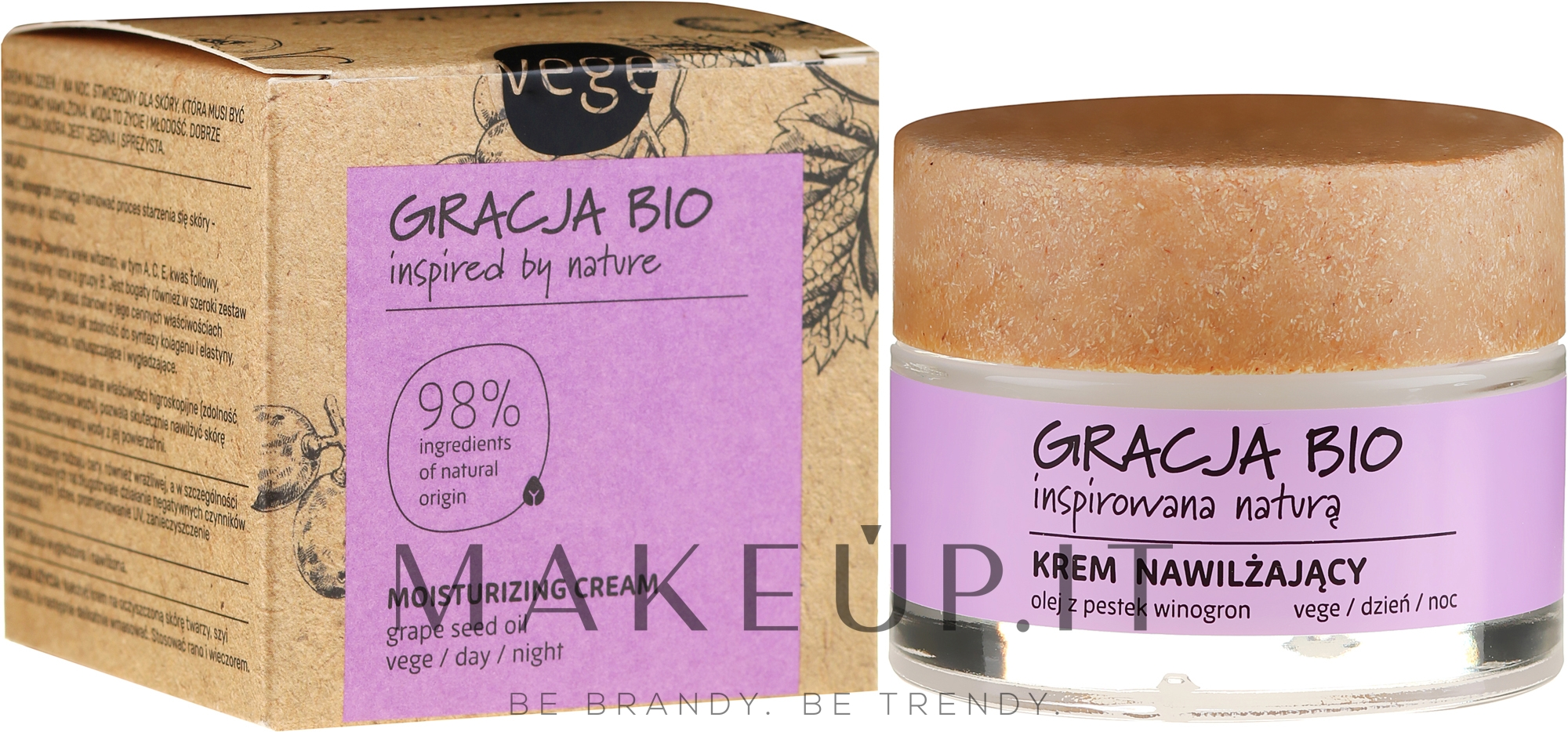 Crema viso idratante con olio di semi d'uva - Gracja Bio Moisturizing Face Cream — foto 50 ml