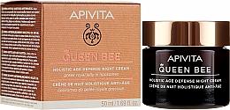 Profumi e cosmetici Crema viso per una protezione completa anti-invecchiamento, da notte - Apivita Queen Bee Holistic Age Defense Night Cream