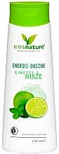 Profumi e cosmetici Gel doccia energizzante al lime e menta - Cosnature Shower Gel Energy Mint & Lime