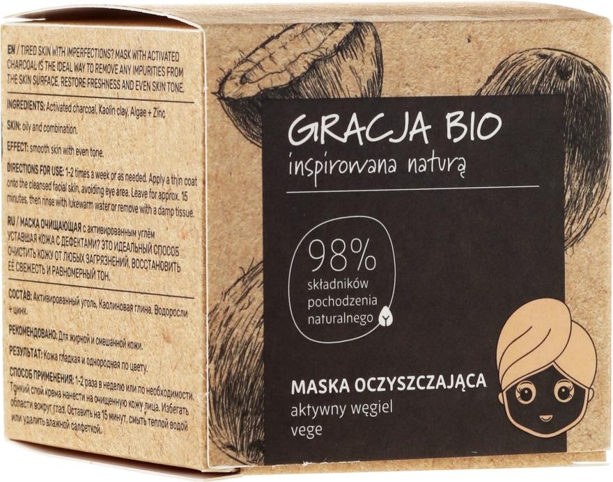 Maschera al carbone attivo - Gracja Bio
