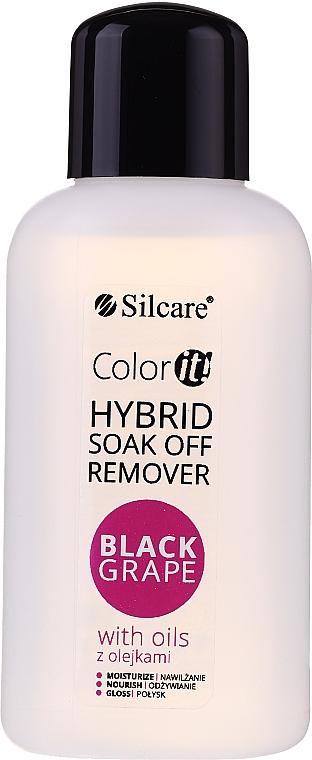 Solvente per smalto gel - Silcare Soak Off Remover Black Grape