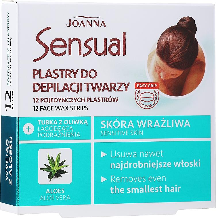 Strisce depilatorie con estratto di aloe vera - Joanna Sensual Depilatory Face Strips