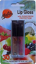 Profumi e cosmetici Set lucidalabbra - Malibu Lip Gloss SPF 30 Set (lip/gloss/2x1.5ml)
