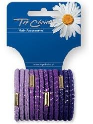 Elastici per capelli 12 pezzi, viola, 21312 - Top Choice — foto N1