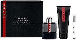 Profumi e cosmetici Prada Luna Rossa Carbon - Set (edt/100ml + sh/gel/100ml + edt/10ml)